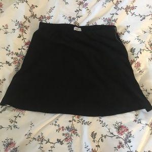 brandy melville suede-like mini skirt